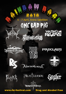 Rainbow Rock - Swedish Christian Metal Festival in Satelliten, Sollentuna withOne Bad Pig, Holy Blood, Parakletos, Hilstherion, Northern Flame and many more!